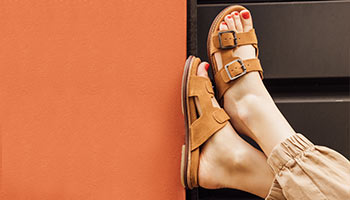 Kickers leather sandals for women