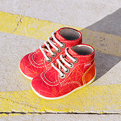 Kickers Bonzip-2 red orange galactic